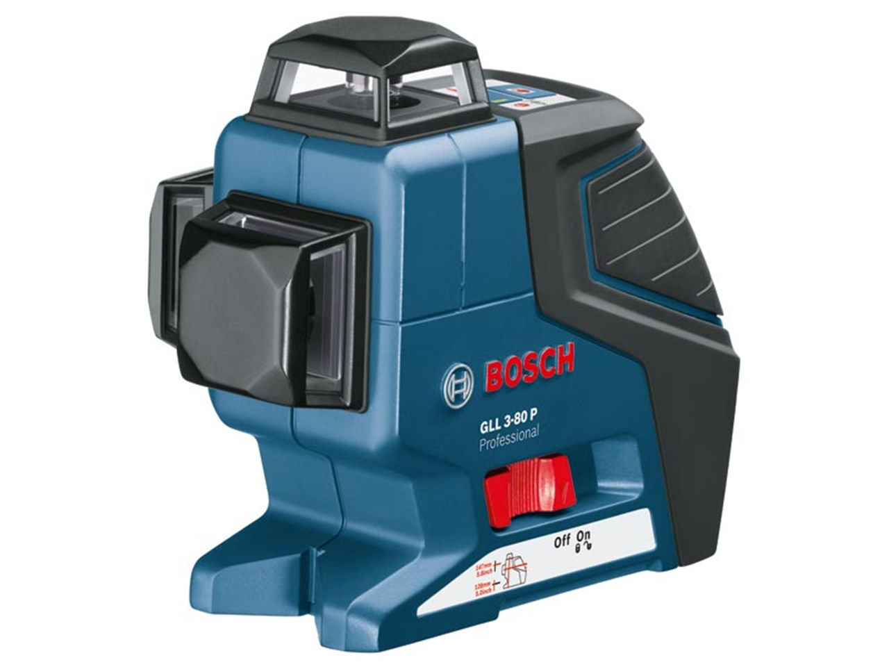 Bosch gll 3 80p professional cross line laser for Trepied pour laser bosch