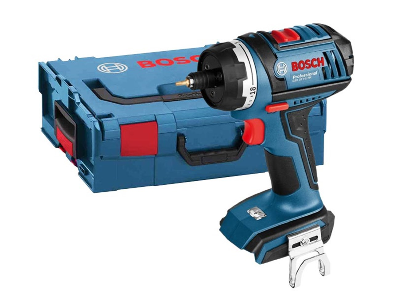 bosch gsr18vec fc2 18v flexiclick cordless drill bare unit. Black Bedroom Furniture Sets. Home Design Ideas