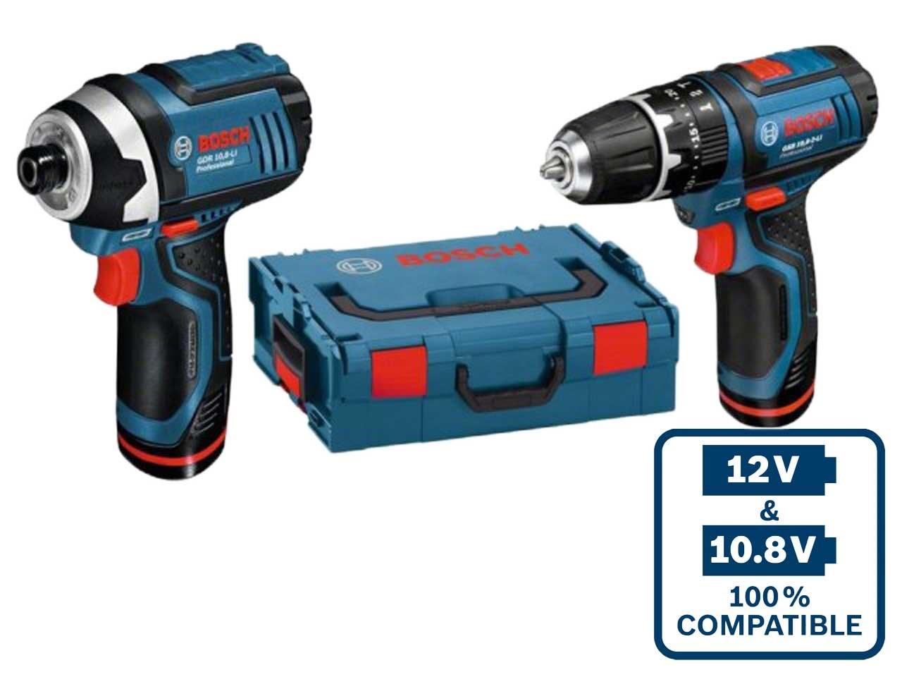 bosch 12vgsbgdr 12v 2x2 0ah li ion impact driver and drill l boxx. Black Bedroom Furniture Sets. Home Design Ideas