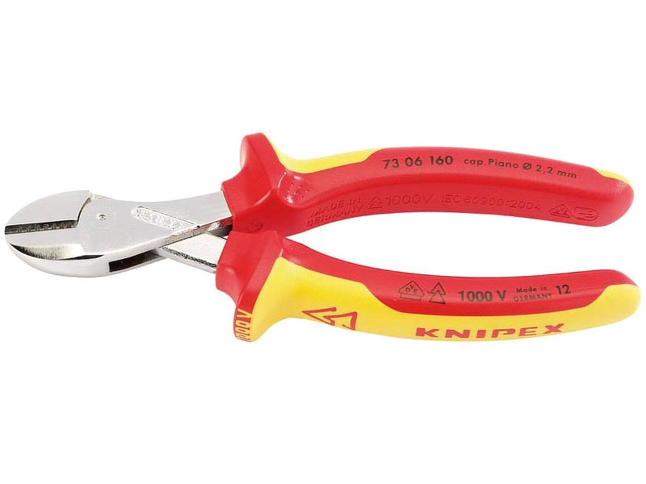 Knipex KPX1366180 VDE StriX Insulation Stripper with Cable Shears 180mm