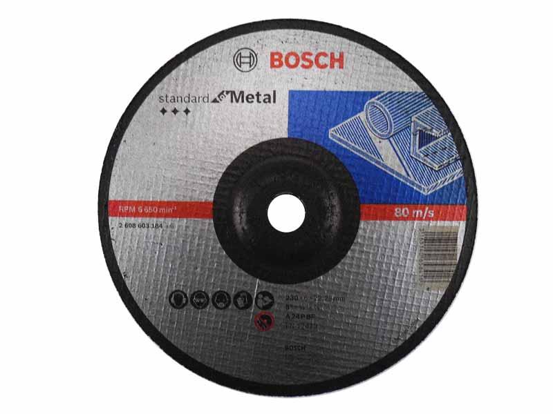 BOSCH 2608603184 ANGLE GRINDER METAL GRINDING DISC DEPRESSED CENTRE 230MM