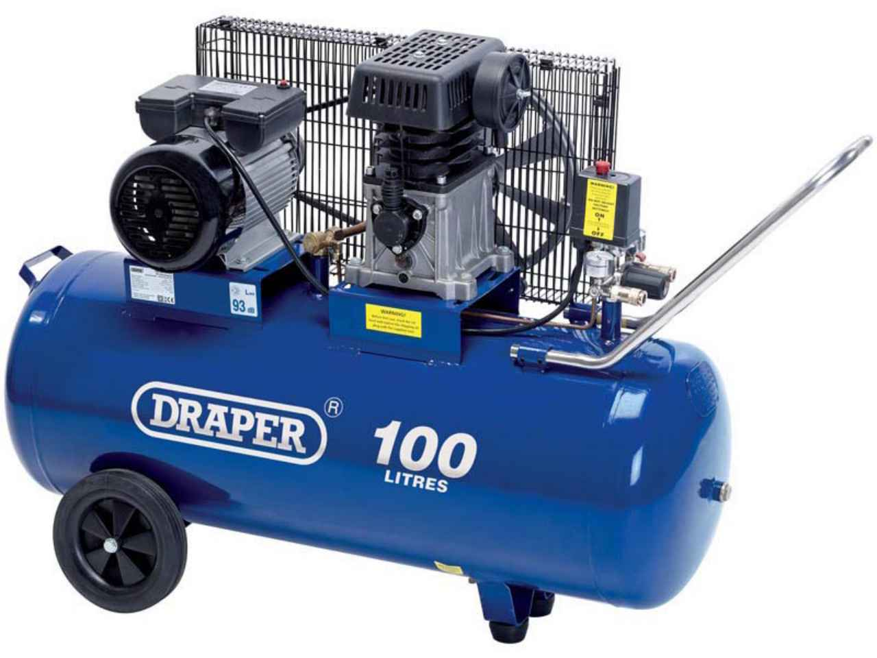 draper da100 330 100l 230v 3hp belt driven air compressor. Black Bedroom Furniture Sets. Home Design Ideas