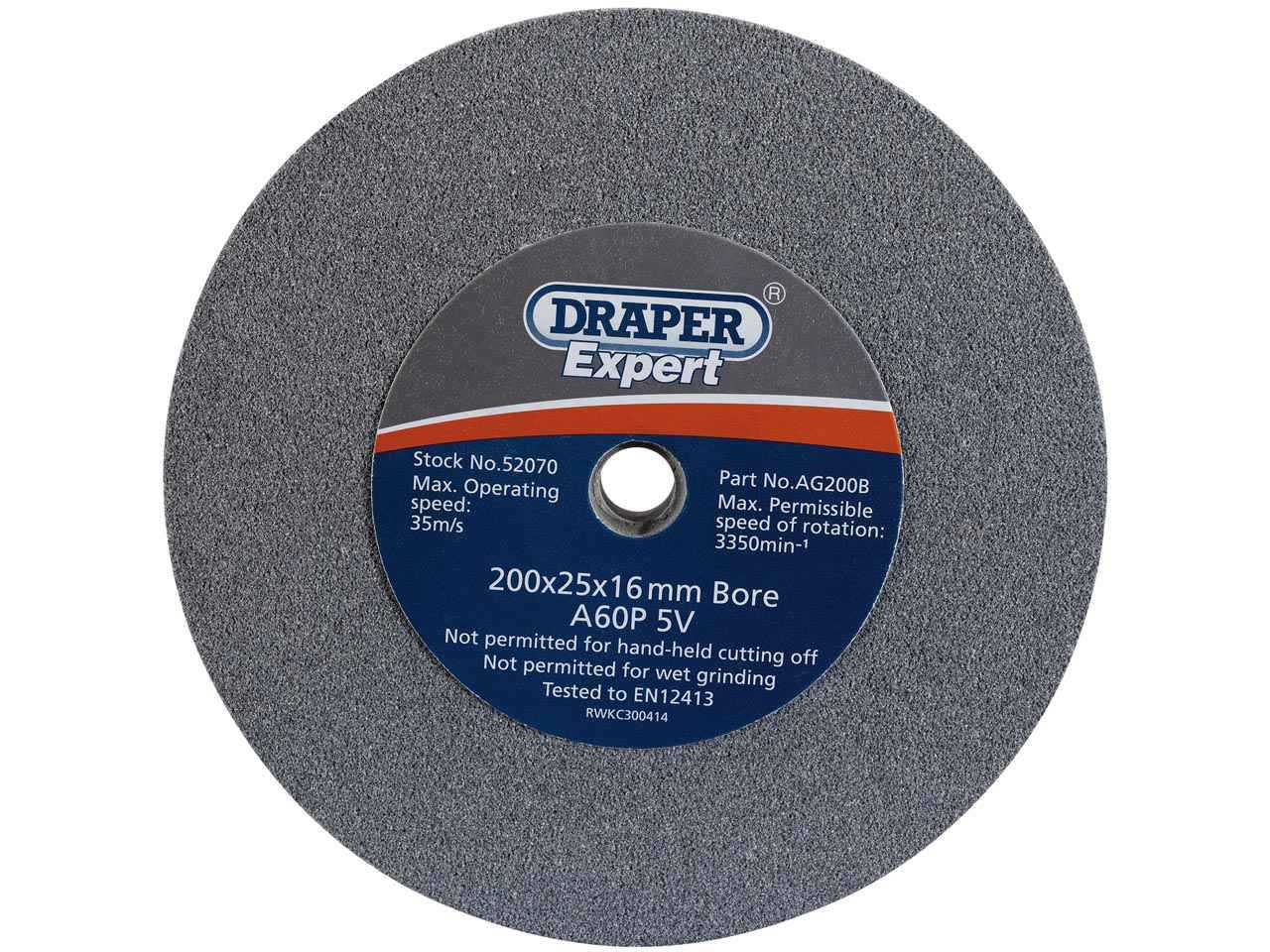 Silverline  390392 Aluminium Oxide Bench Grinding Wheel 150 x 20mm Medium