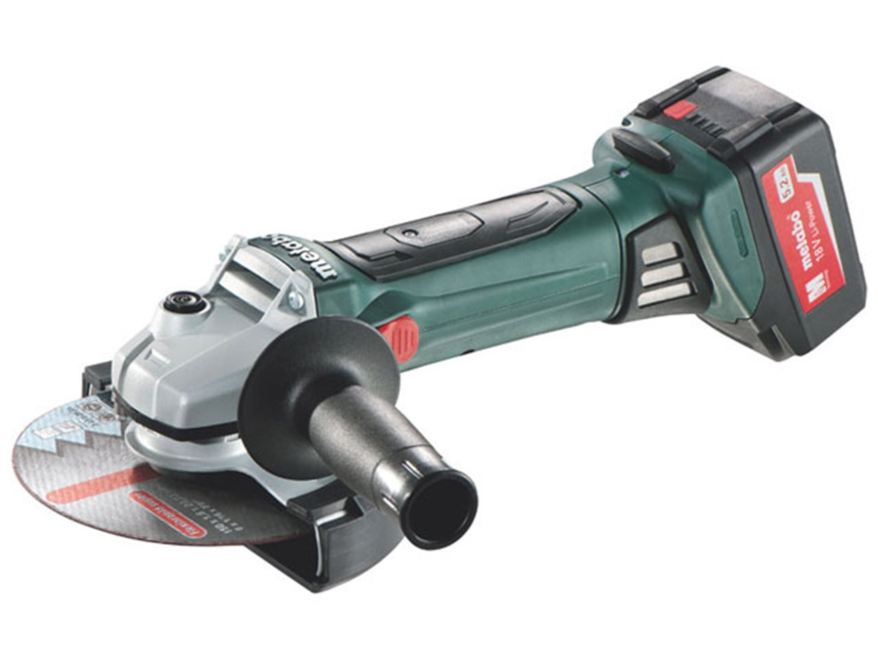 metabo w18ltx 150mm cordless angle grinder 18v 2 x. Black Bedroom Furniture Sets. Home Design Ideas
