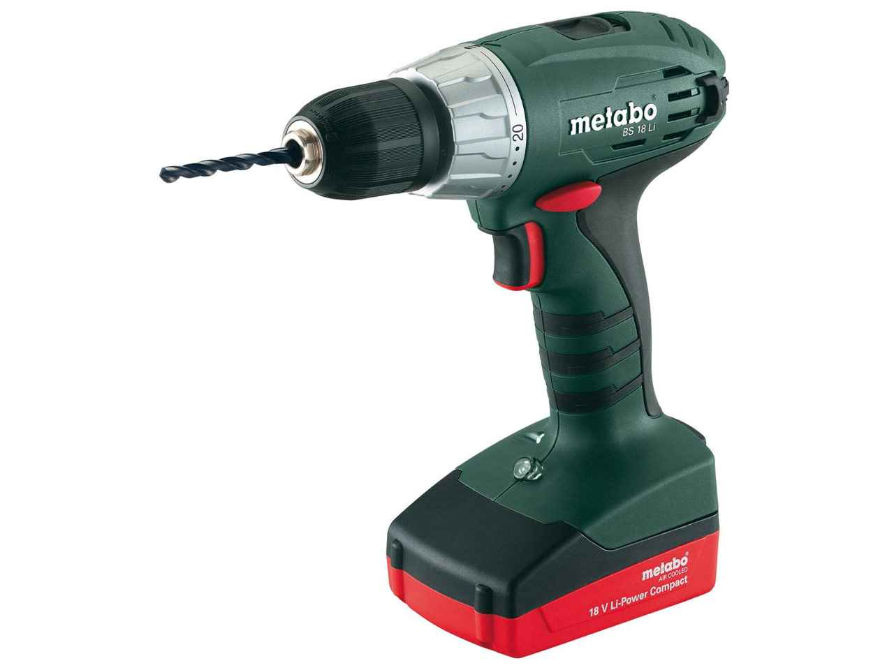 metabo bs18li 18v drill driver 2 x 1 5ah li ion ebay. Black Bedroom Furniture Sets. Home Design Ideas