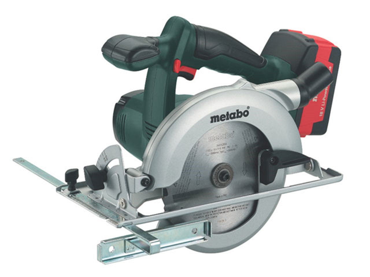 metabo ksa18ltx 18v cordless circular saw kit 2 x 4 0ah li ion. Black Bedroom Furniture Sets. Home Design Ideas