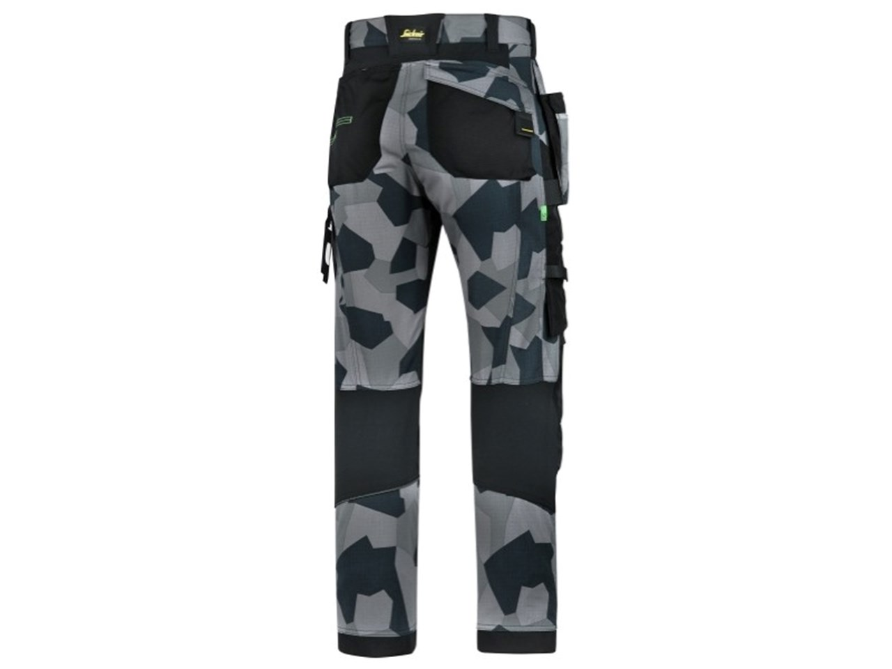 best selection of 2019 detailed pictures new release Snickers 69028704044 FlexiWork Work Trousers Camo 44 Grey 30R