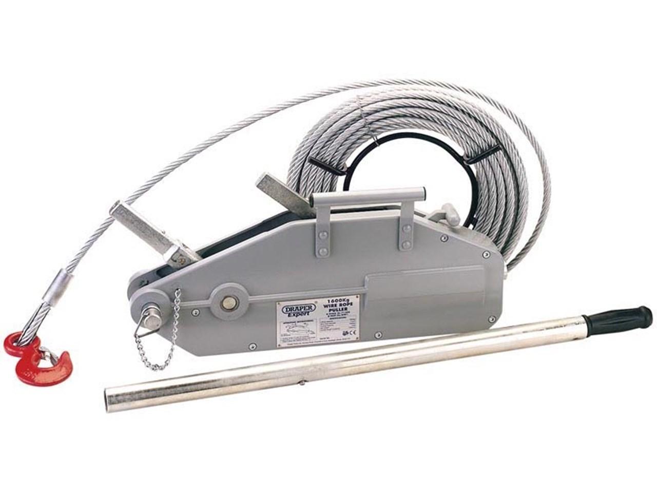Draper WRP1 Expert 1600/2400kg Wire Rope Winch/Hoist