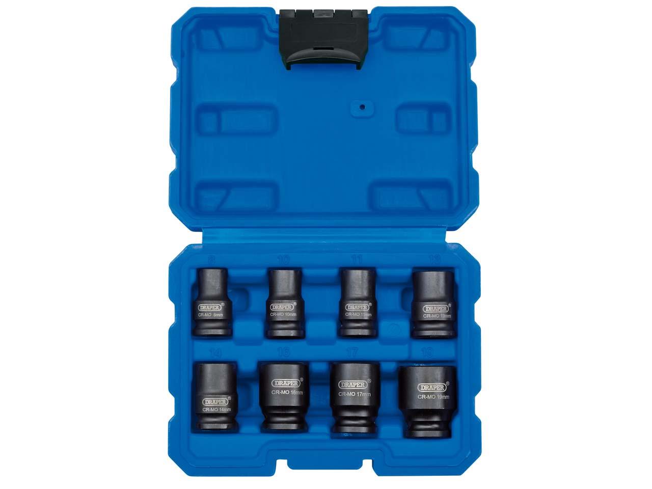 Draper 409-mmc Expert Square Drive Hi-torq 6 Point Impact Socket Blue 15mm