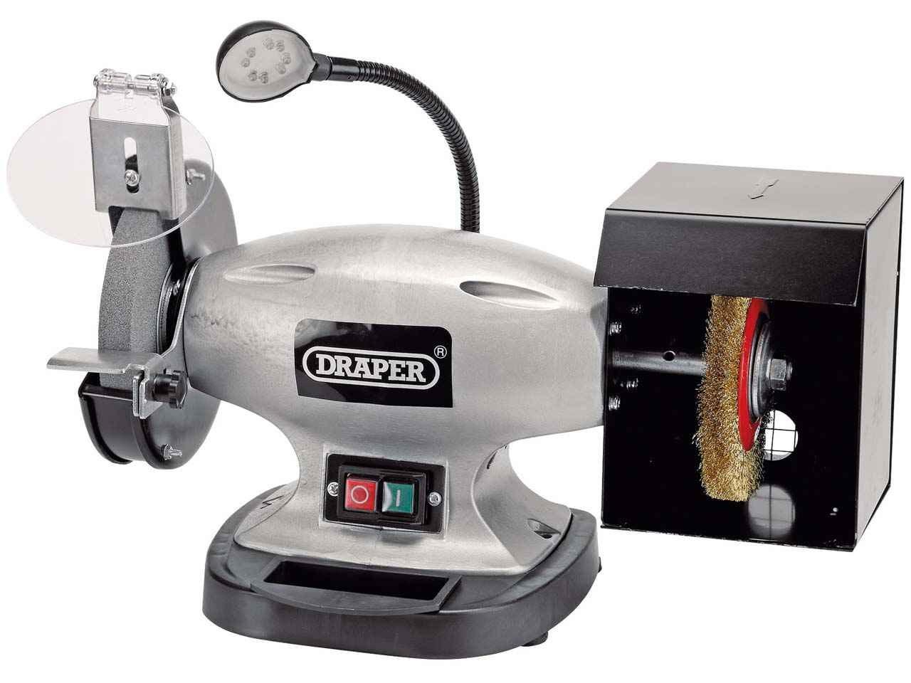Draper 83421 150mm Bench Grinder with Wire Wheel 370w