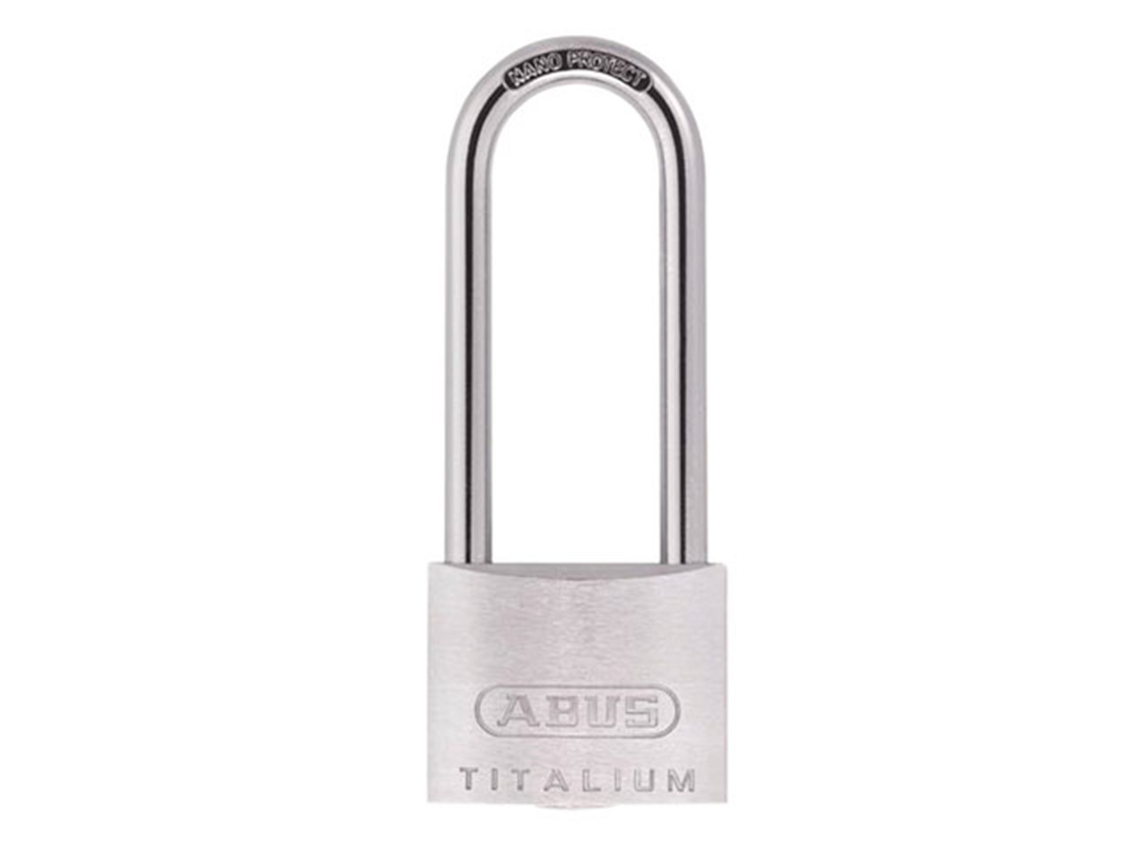 abus abuka54583 titalium padlock 40mm x 63mm long shackle