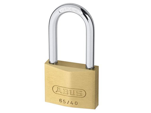 ABUS 04778 63mm Long Shackle Brass Padlock