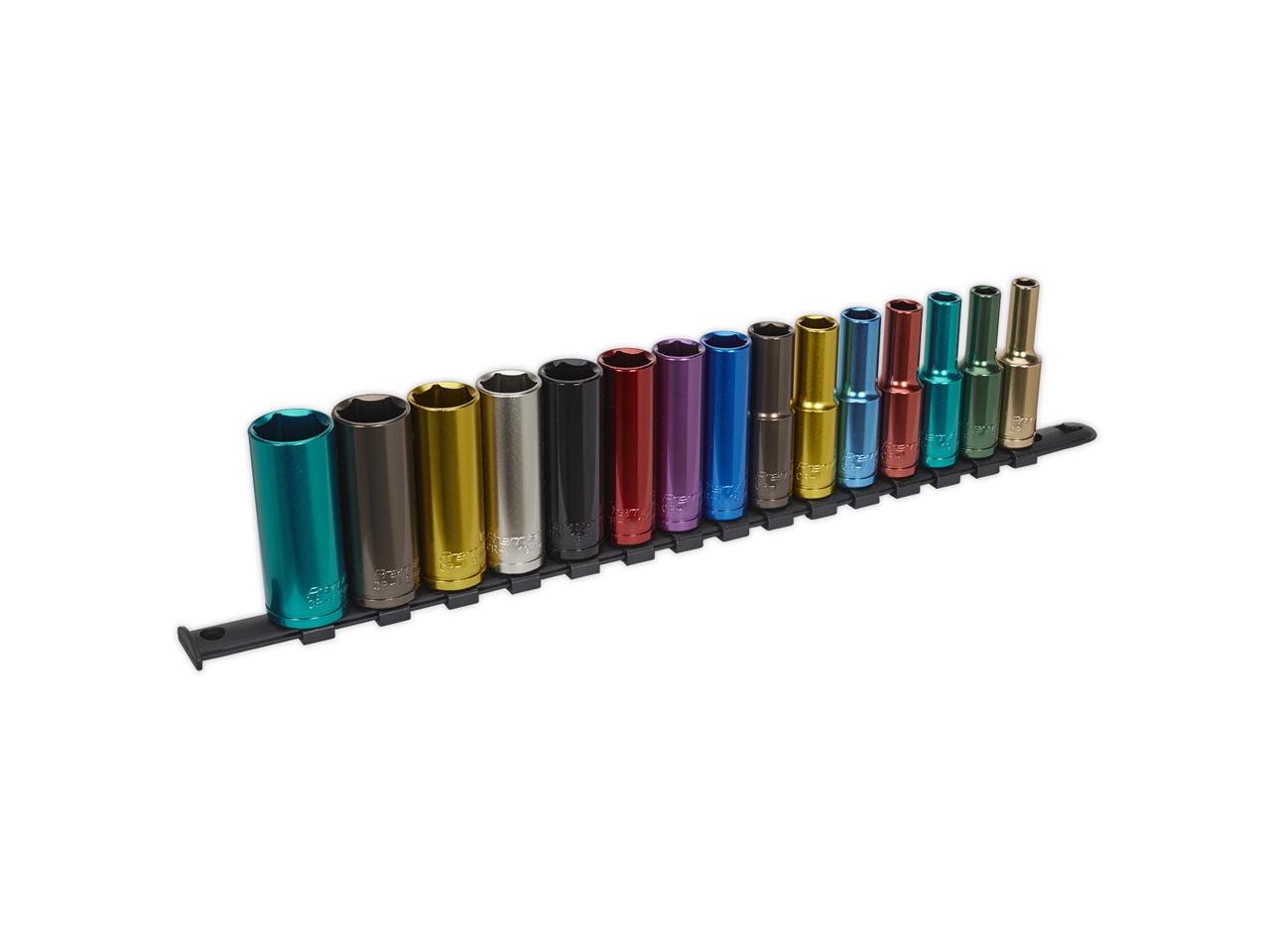 M3816 Socket Clip Rail Set of 16 Metric 3//8in Drive TENM3816 Teng