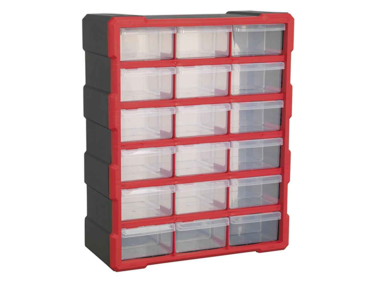 Sealey APDC18R Cabinet Box 18 Drawer - Red/Black