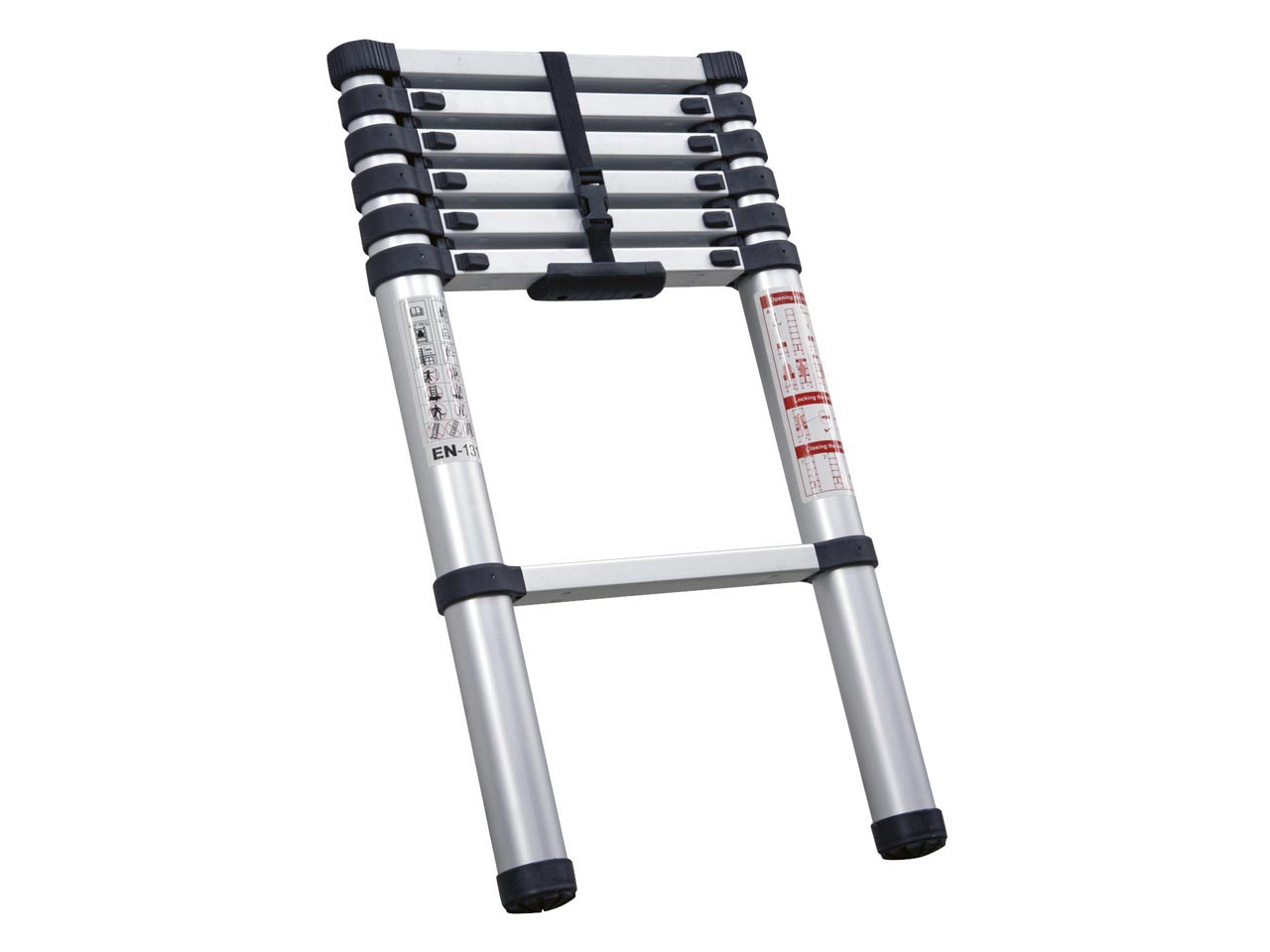 Aluminum Telescopic Ladder : Sealey atl aluminium telescopic ladder tread ebay