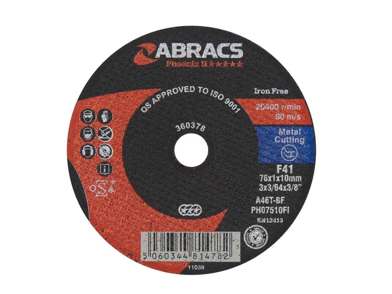 5 x Metal Air Cut Off Cutting Discs 75mm x 1.6mm x 10mm Thin 3 Slitting Disc