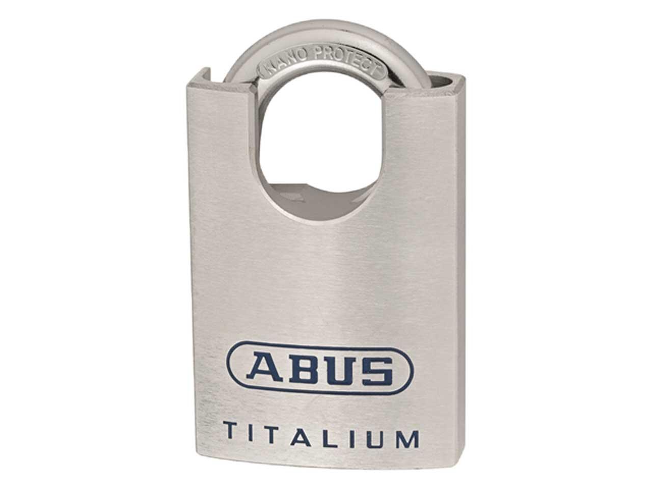 abus 96csti50b 50mm titalium closed shackle padlock. Black Bedroom Furniture Sets. Home Design Ideas