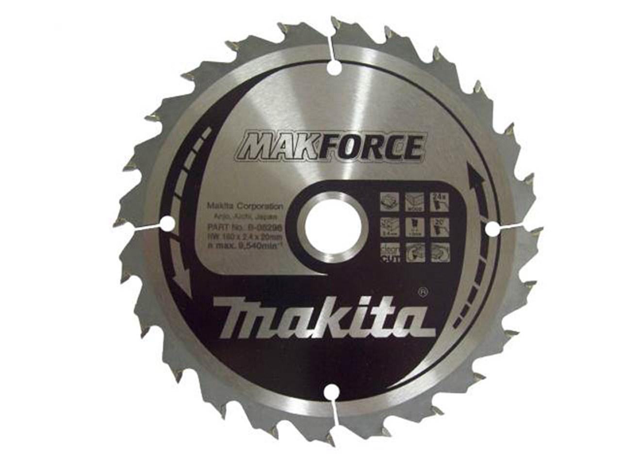 Makita b 08296 160mm x 20mm x 24t circular saw blade makforce greentooth Image collections