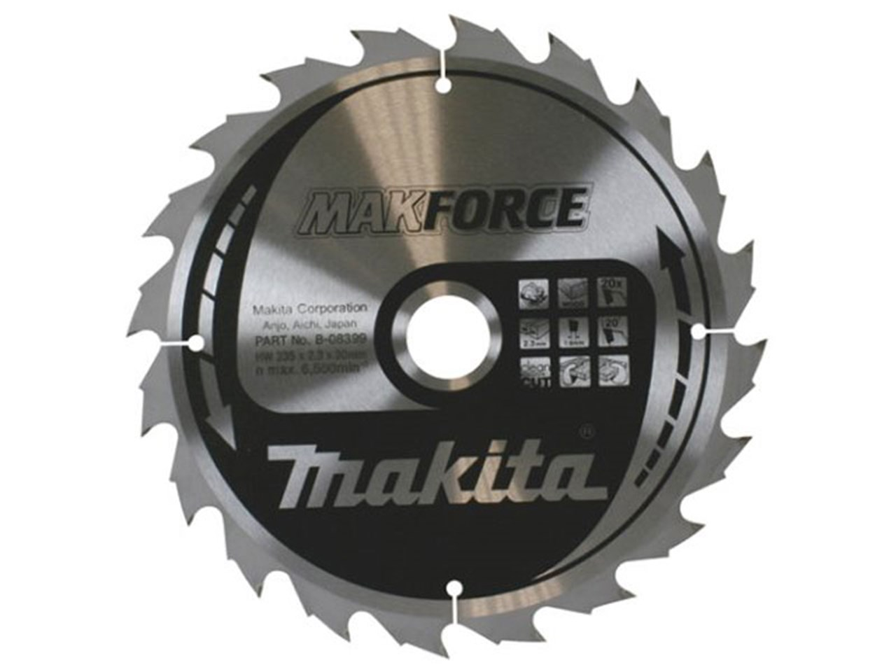 Makita b 08399 235mm x 30mm x 20t circular saw blade greentooth Images