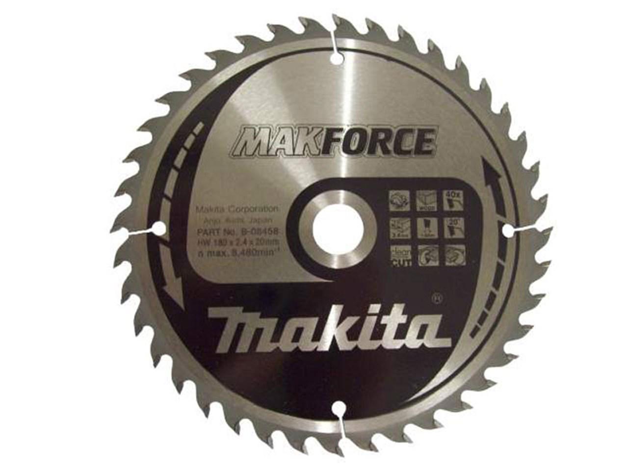 Makita b 08458 180mm x 20mm x 40t circular saw blade makforce keyboard keysfo Images
