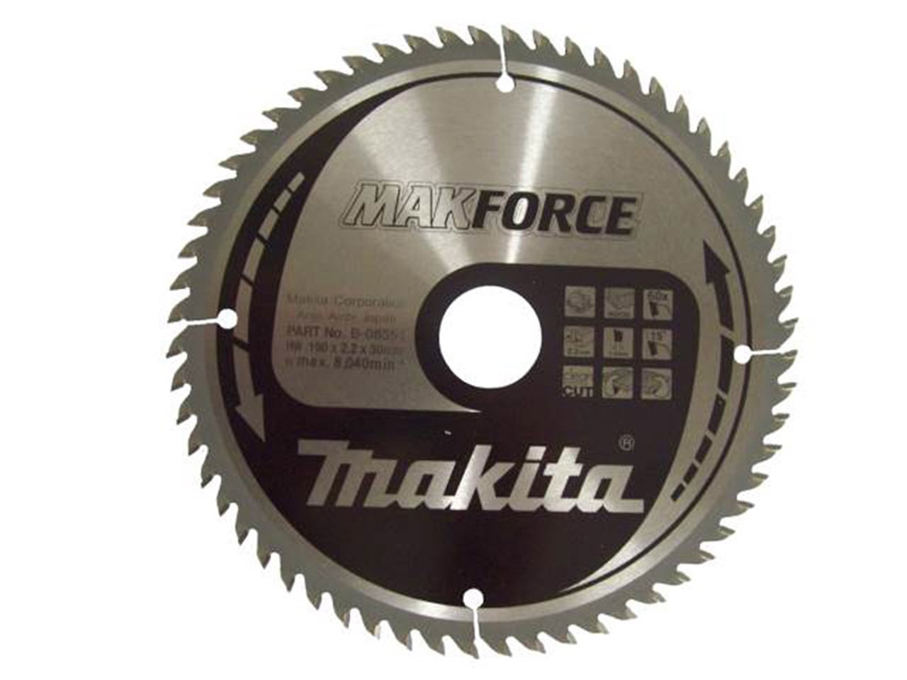 Makita b 08551 190mm x 30mm x 60t circular saw blade greentooth Images
