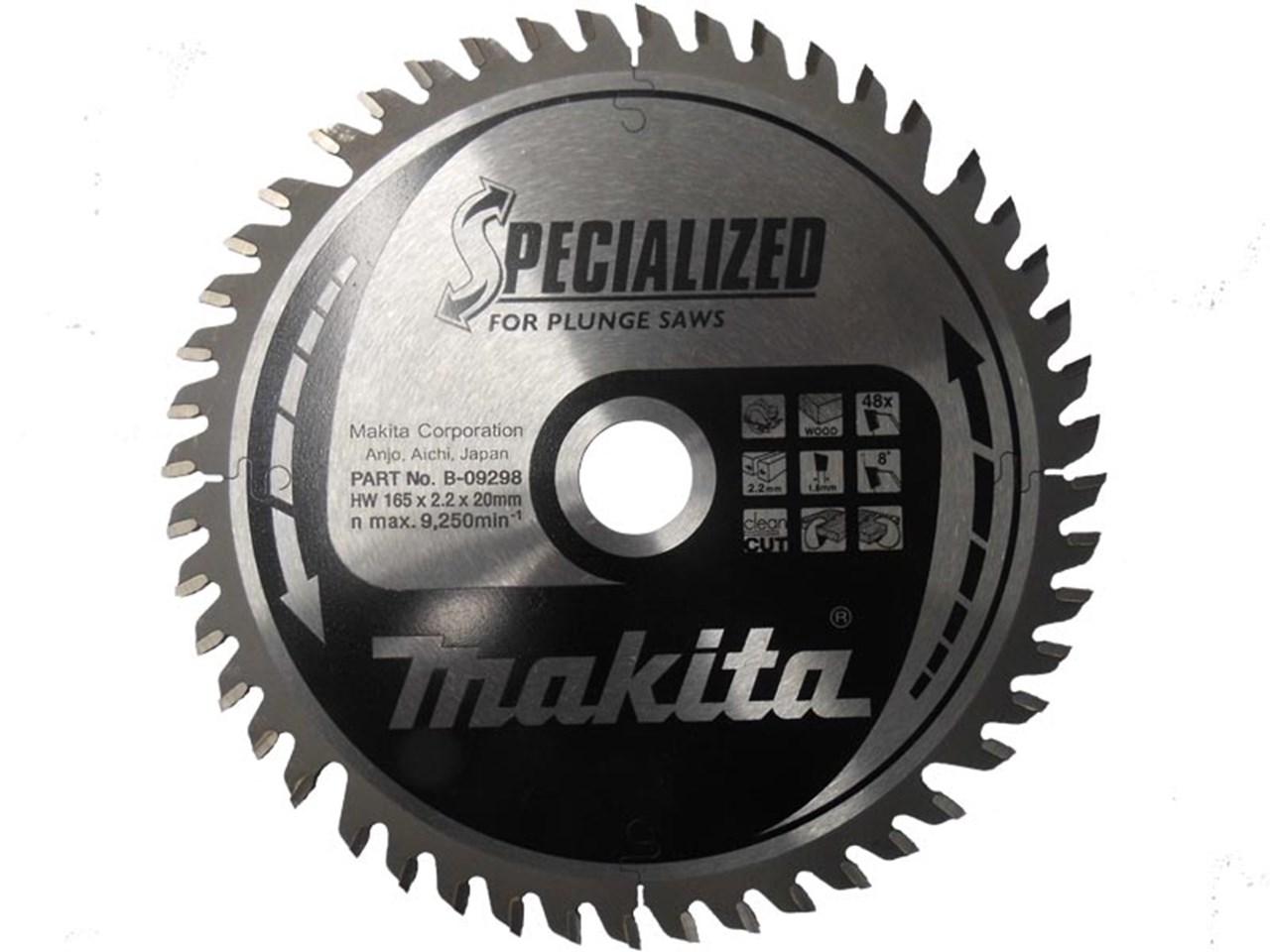 Makita B 09298 165mm X 20mm X 48t Specialized Plunge Saw Blade