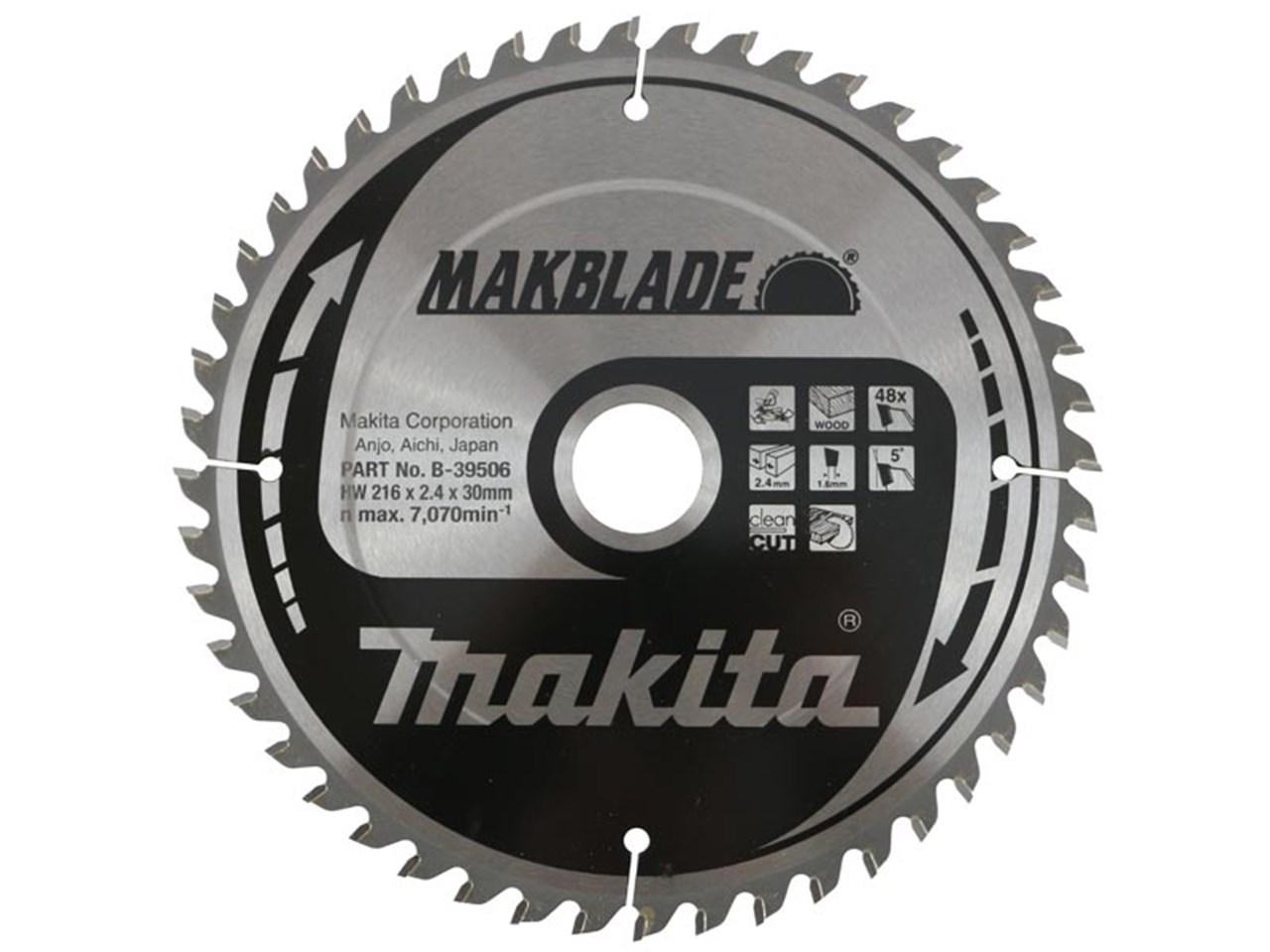 Fräscha Makita B-39506 216mm x 30mm x 48T Makblade Mitre Saw Blade WS-07