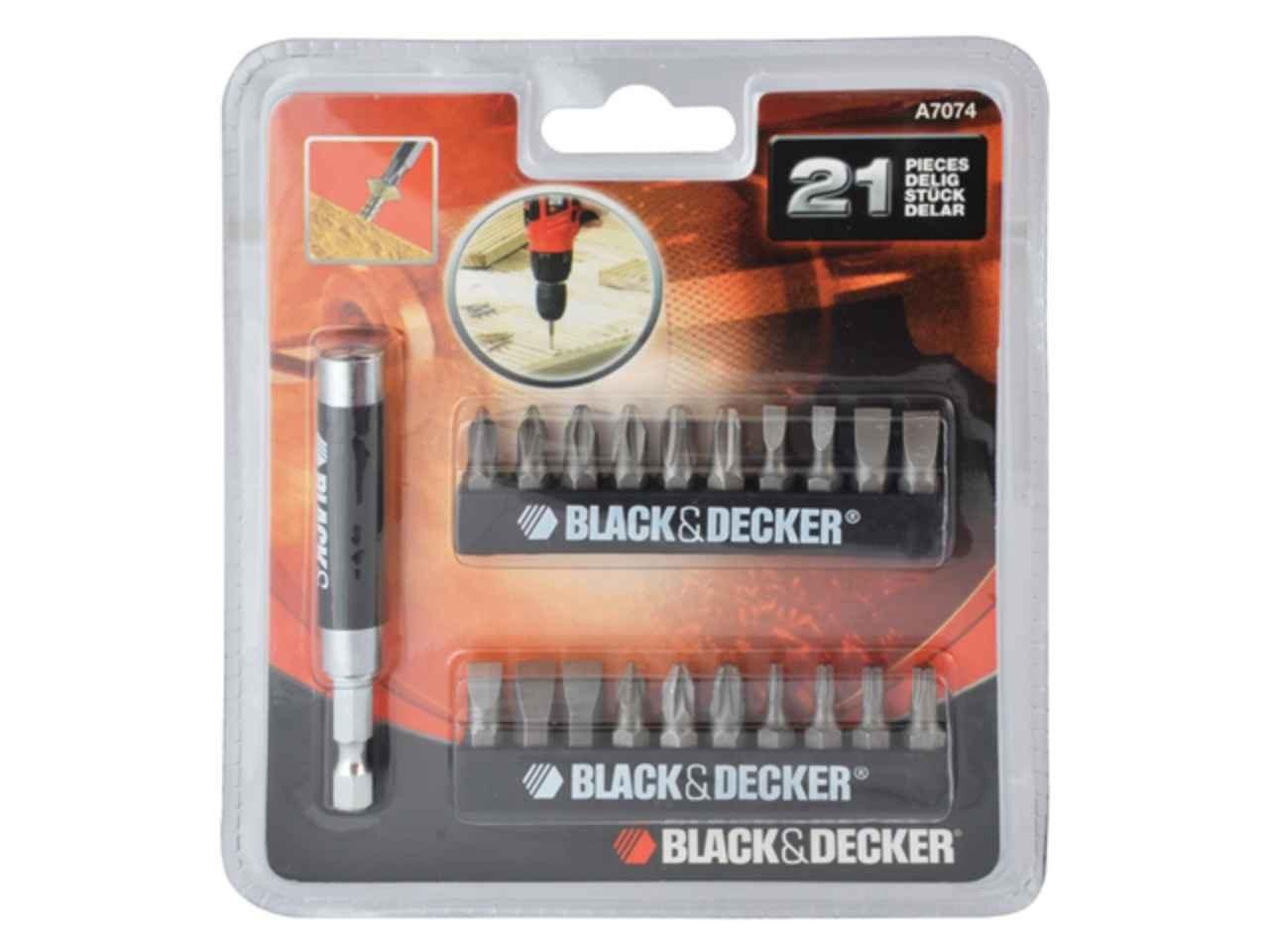 Black and Decker A7074-XJ Screwdriver Set 21 Piece