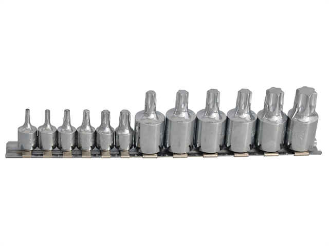 BlueSpot Tools 01551 Torx Socket Set of 12 1//4 /& 3//8in Square Drive
