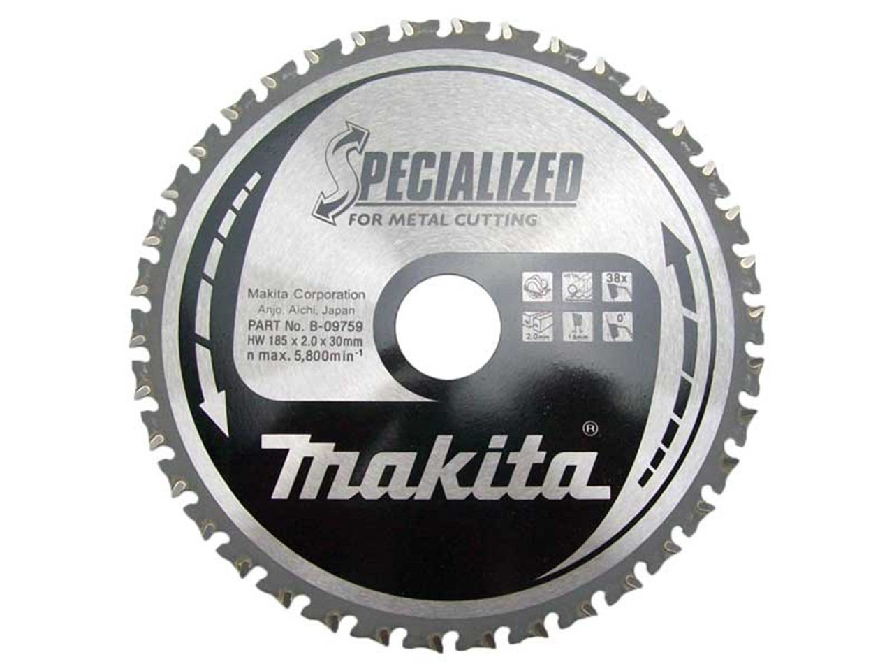 Makita b 09759 185mm specialized mild steel circular saw cutting blade greentooth Gallery
