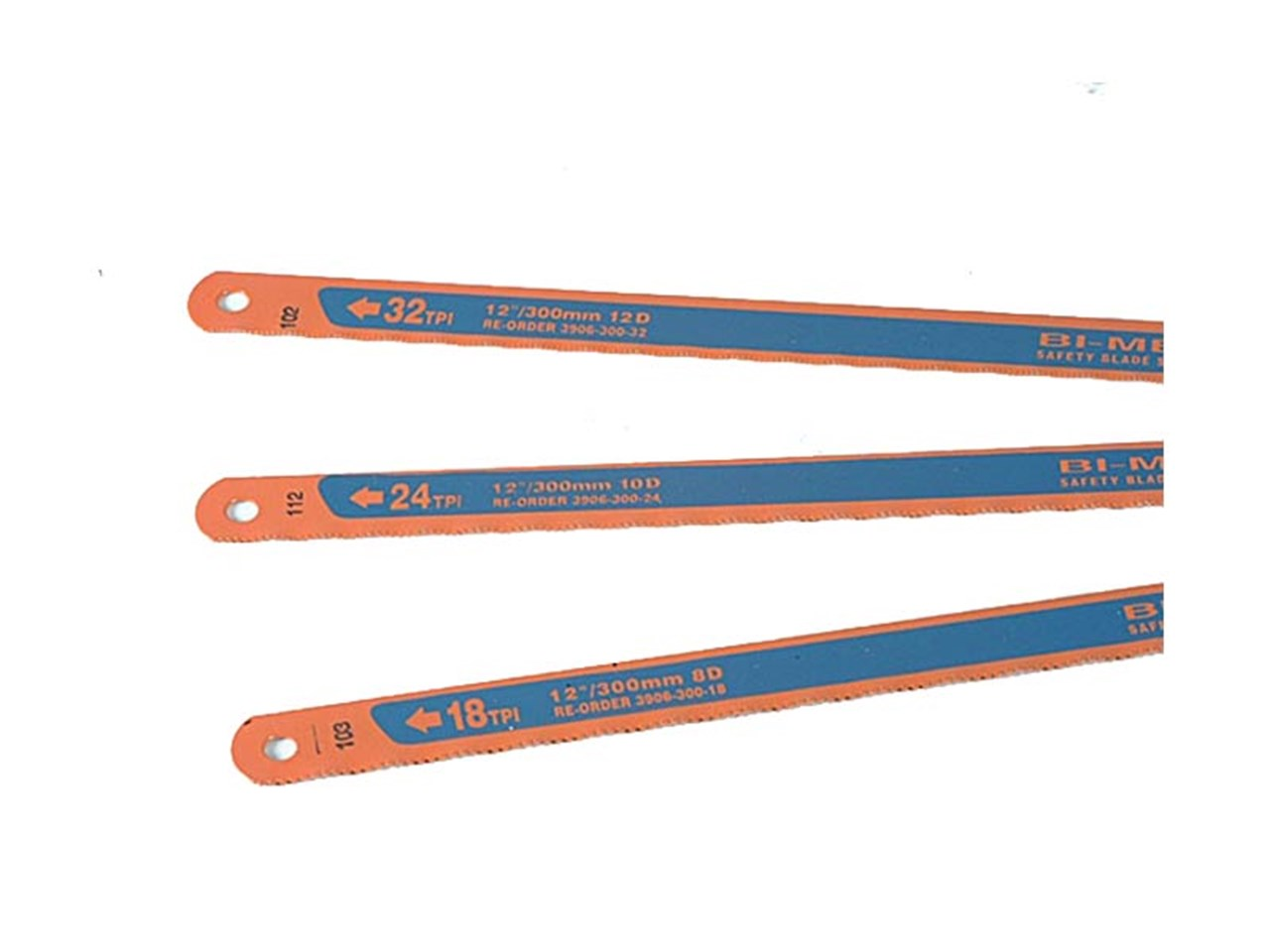 Bahco 3906 300 3p 3906 sandflex hacksaw blades 12 x 12in x 24 pack 3 greentooth Image collections