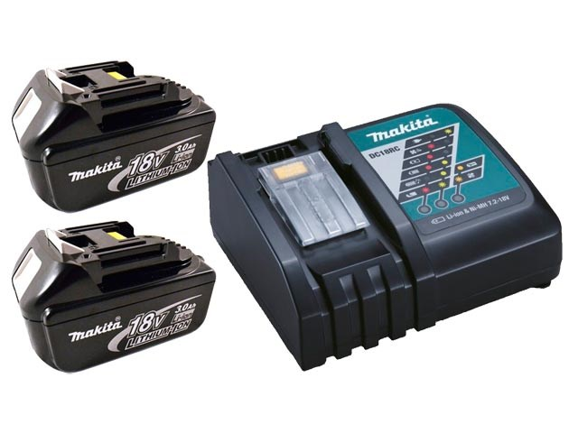 Makita Bl18302dc18rc Twin Lxt 18v 3 0ah Li Ion Battery And Charger