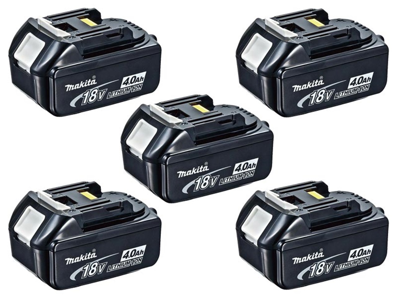 makita bl1840x5 18v lxt li ion makstar battery pack of 5. Black Bedroom Furniture Sets. Home Design Ideas