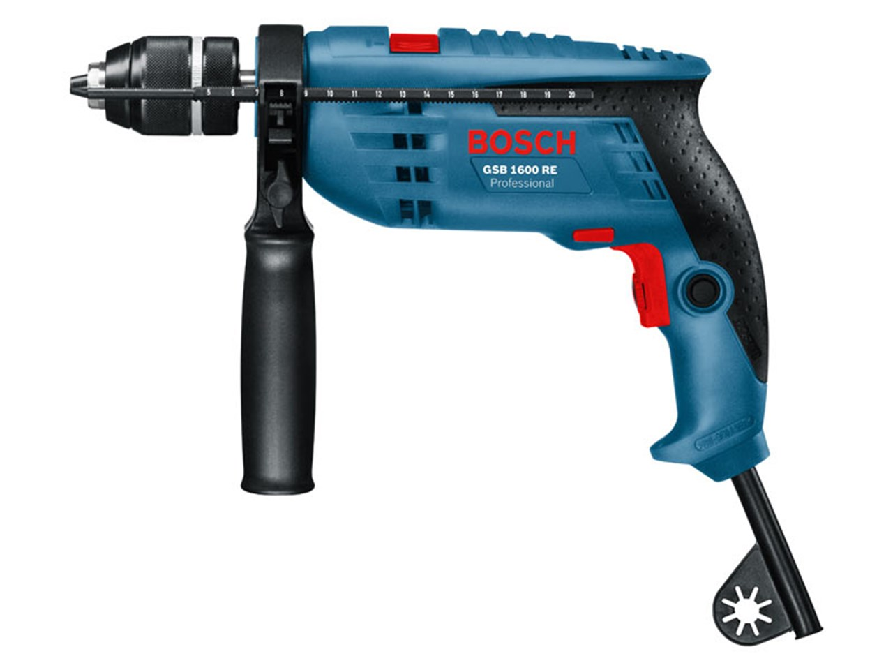 bosch gsb 1600 re professional impact drill 240v. Black Bedroom Furniture Sets. Home Design Ideas