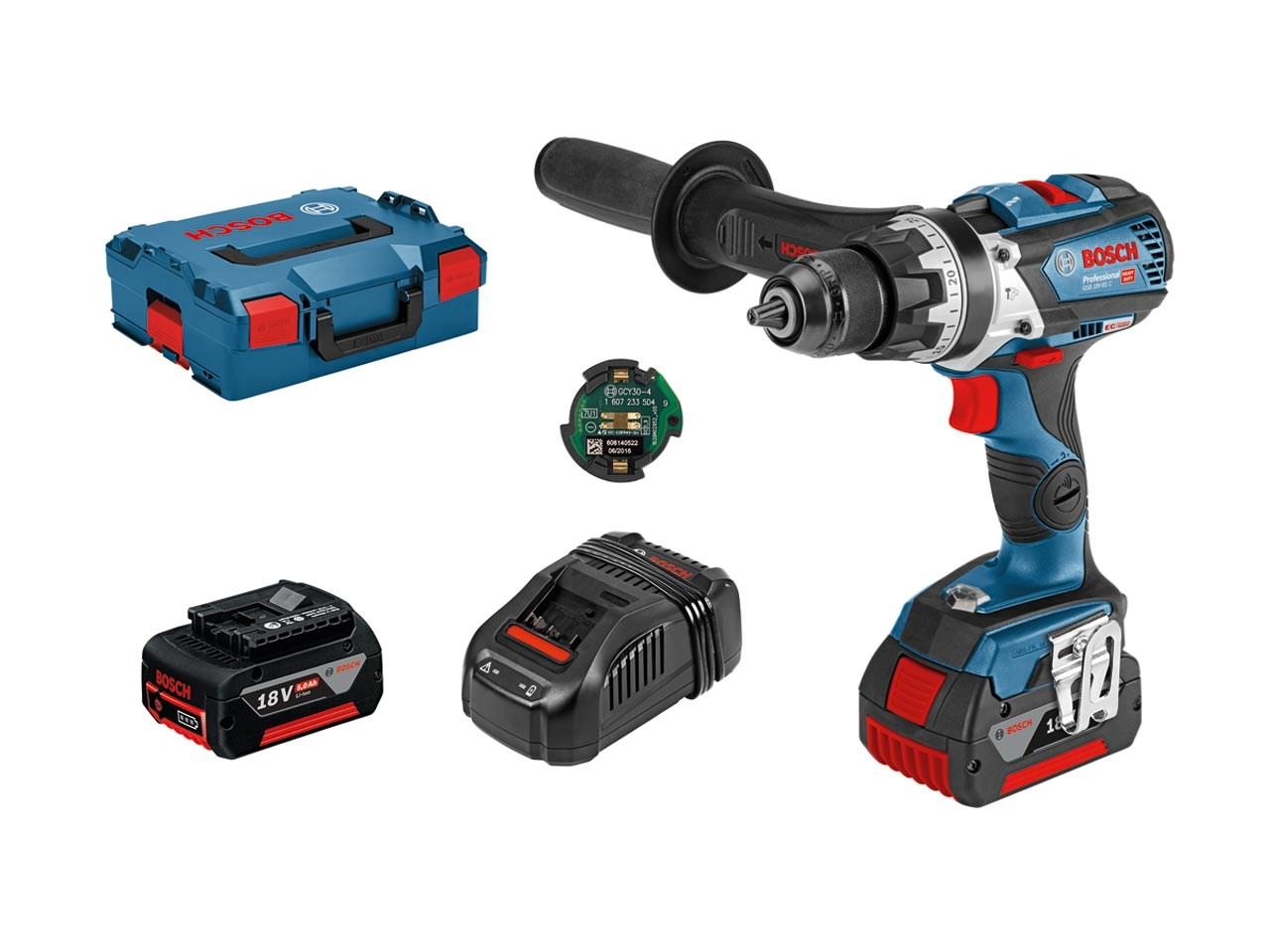 Bosch Gsb 18v 85 C 18v 2x5 0ah Bluetooth Cordless Combi Drill Kit