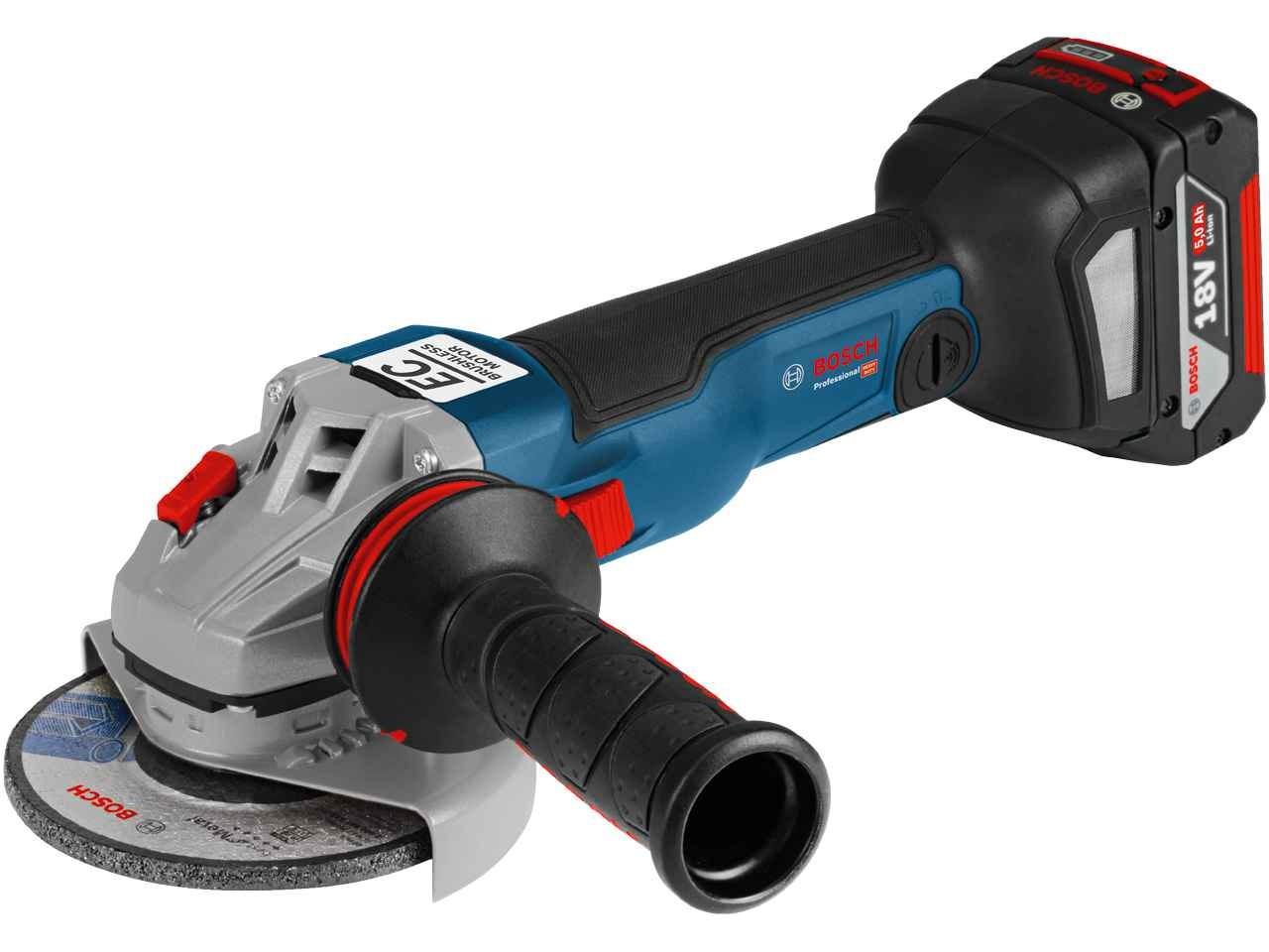 cordless grinder. bosch gws18v125scncg 18v 125mm bluetooth professional cordless angle grinder - bare unit x