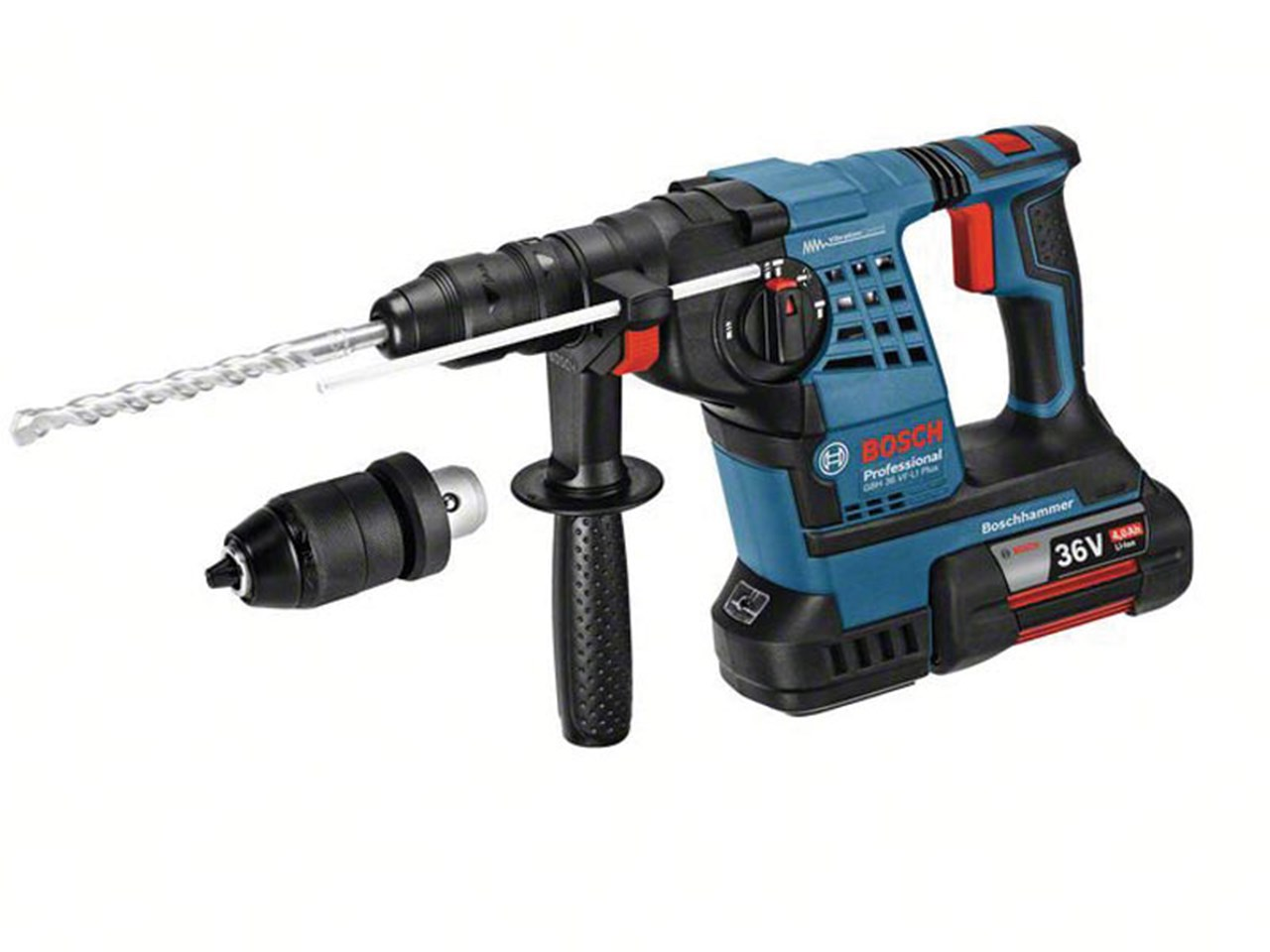 bosch gbh36vfli plus 36v sds hammer drill 2 x with. Black Bedroom Furniture Sets. Home Design Ideas