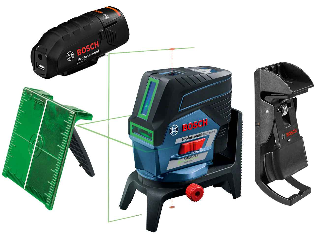 bosch gcl250cgb 12v 2 0 ah rm2 kombi laser gr n beam 06159940k0 ebay. Black Bedroom Furniture Sets. Home Design Ideas