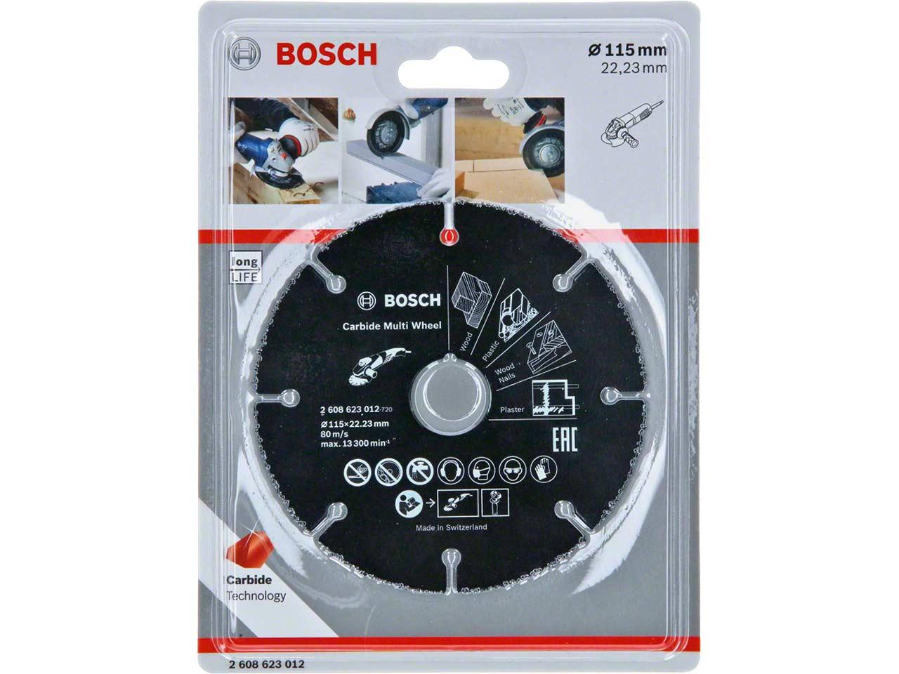 BOSCH multi cutting wheel CARBIDE 115mm GRINDER 2608623012 wood//plastic//plaster