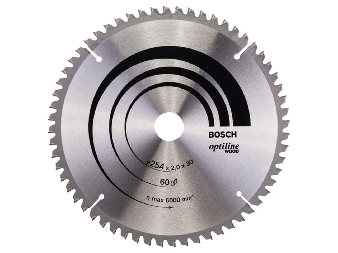 Bosch 2608640436 254mm x 30mm x 60t optiline wood circular saw blade greentooth Choice Image