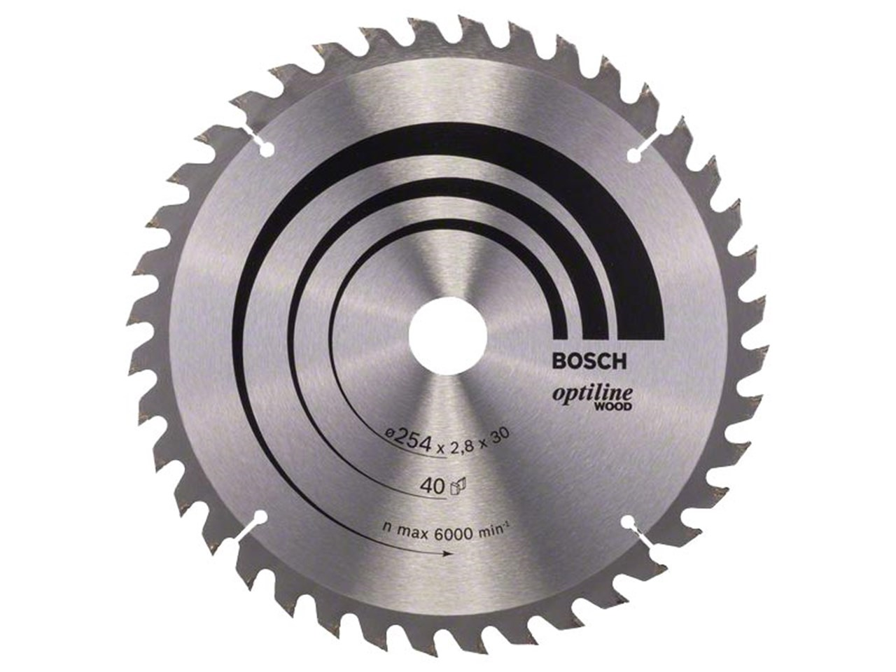 Bosch 2608640443 254mm x 30mm x 40t optiline wood circular saw blade greentooth Image collections