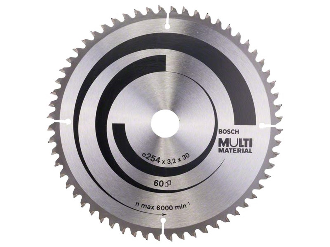 Bosch 2608640449 254mm x 30mm x 60t multi material circular saw blade greentooth Image collections