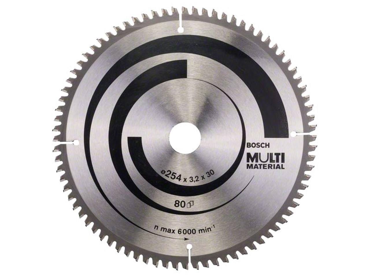 Bosch 2608640450 254mm x 30mm x 80t multi material circular saw blade greentooth Choice Image