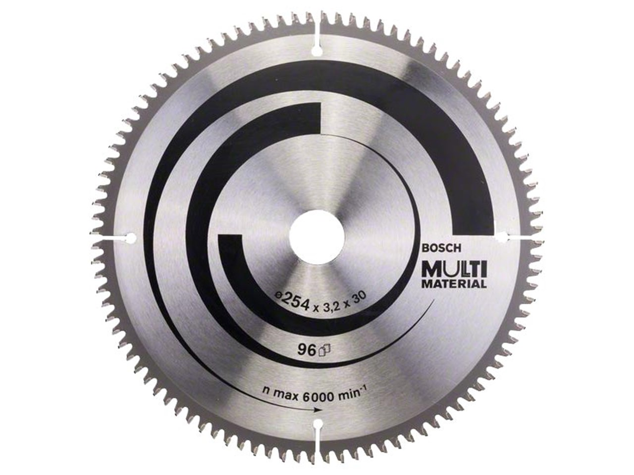 Bosch 2608640451 254mm x 30mm x 96t multi material circular saw blade greentooth Image collections