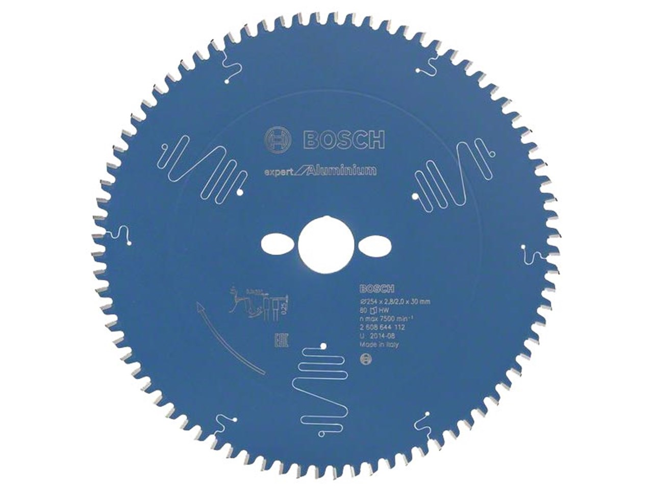 Bosch 2608644112 254mm x 30mm x 80t aluminium circular saw blade greentooth Image collections