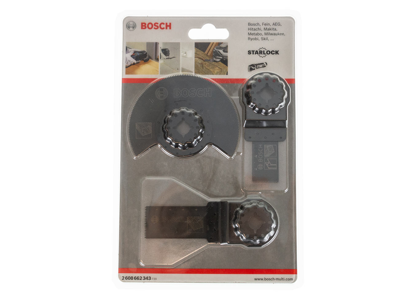 Bosch 2608662343 3pc Starlock Multi-Tool Blade Basic Wood Set