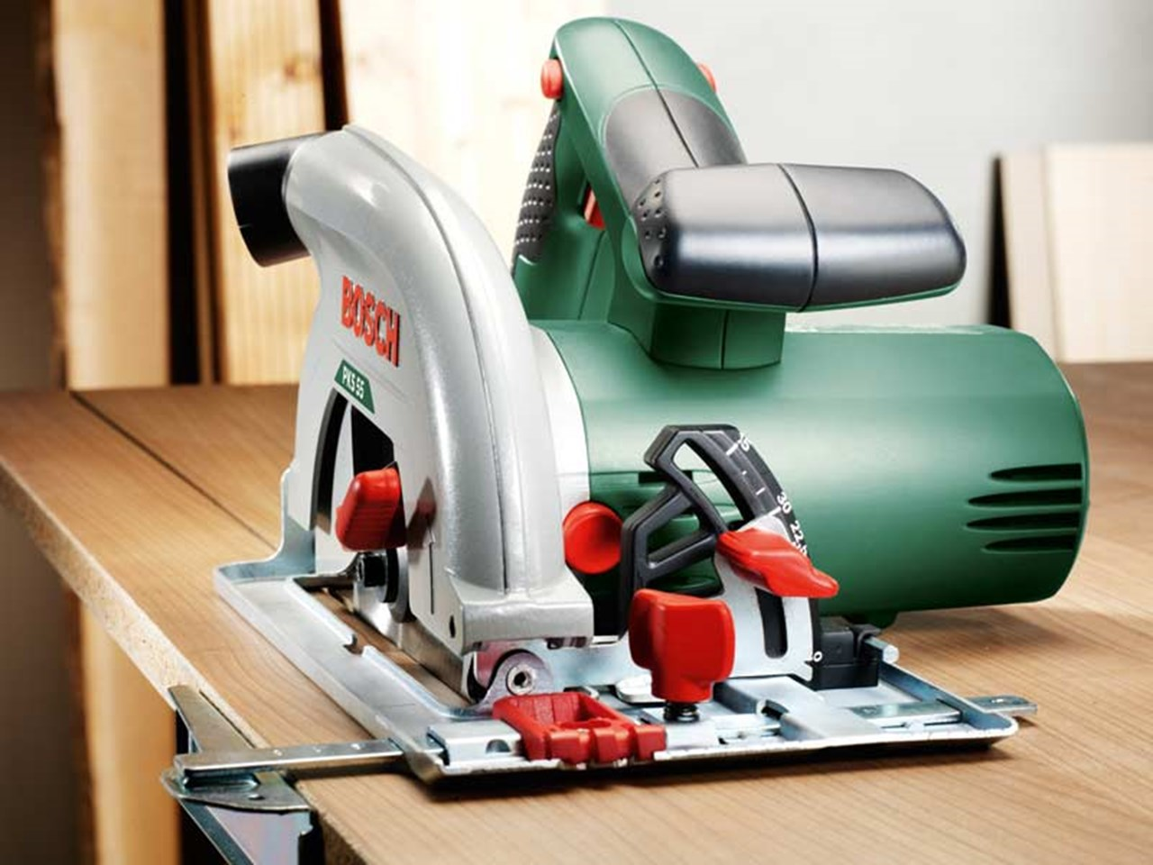 bosch green pks 55 230v 1200w 160mm circular saw. Black Bedroom Furniture Sets. Home Design Ideas