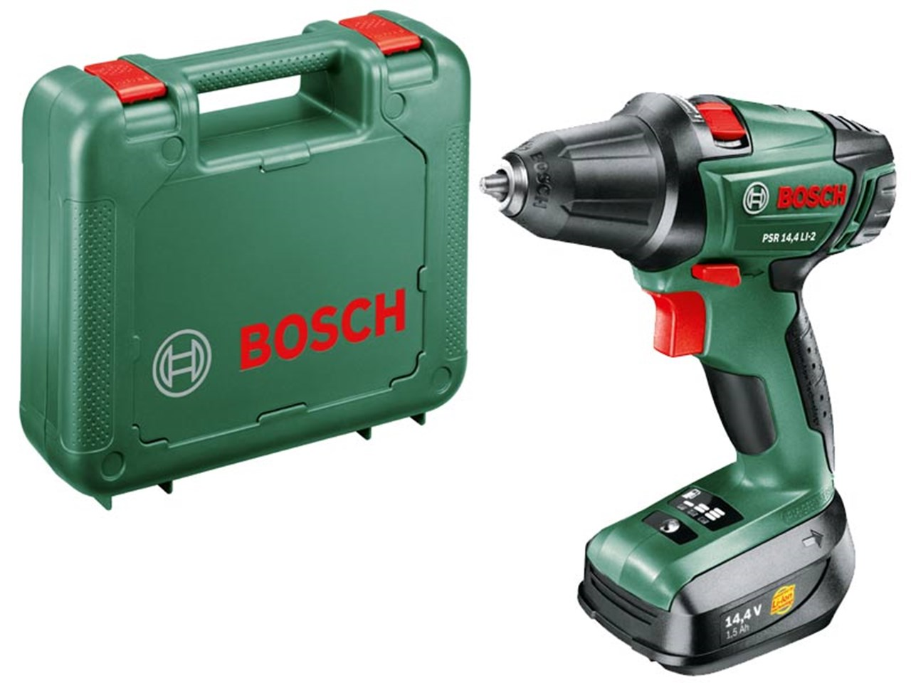 bosch green psr 14 4 li 2 2 speed drill driver 1 x li ion. Black Bedroom Furniture Sets. Home Design Ideas