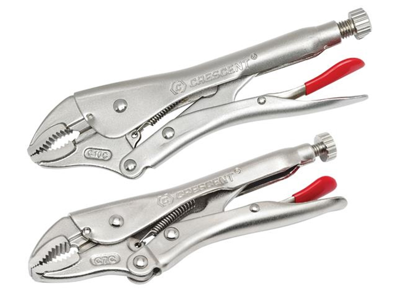 Crescent CRECLP2SETN Curved Jaw Locking Pliers with Wire Cutter Set ...