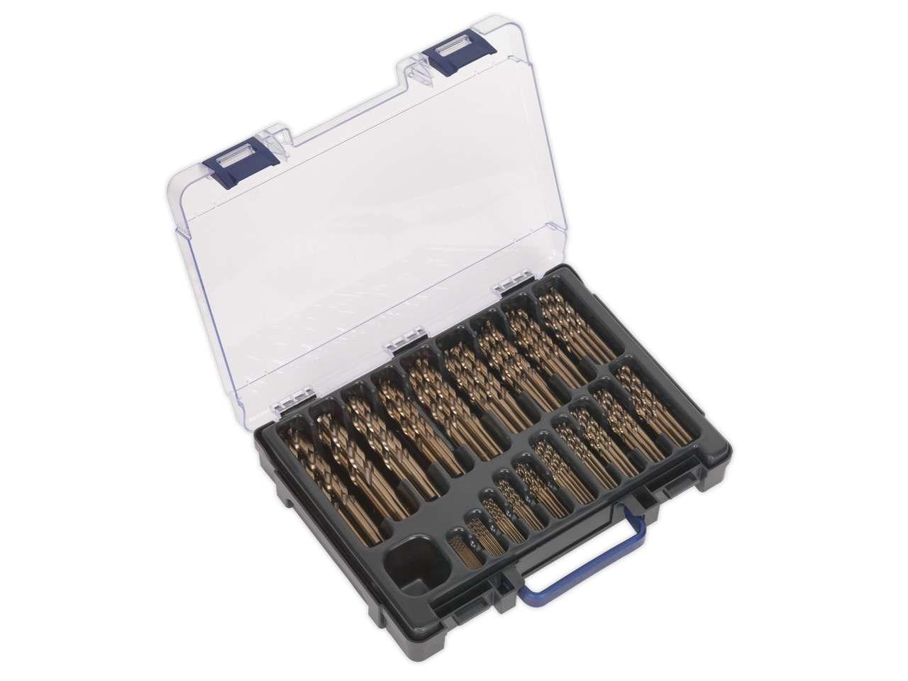 Cobalt Drill Bit Set >> Sealey Dbs170cb Hss Cobalt Drill Bit Set 1 10mm 170pc